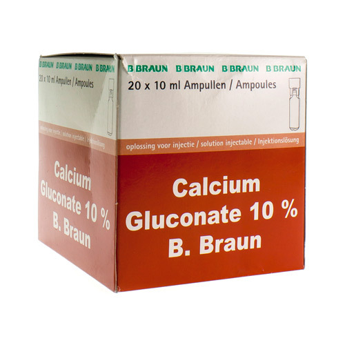 Gluconate Calcique 10 % Amp 20X10 ml