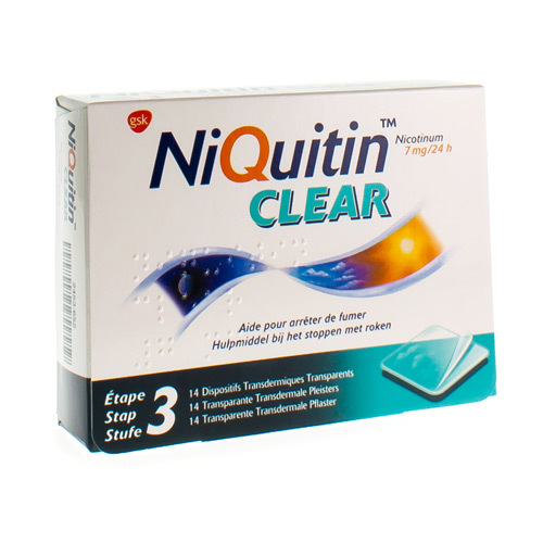 Niquitin Clear 7 Mg (14 Dispositifs)