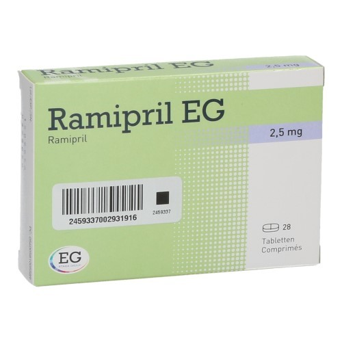 Ramipril EG 2,5 Mg (28 Comprimes)