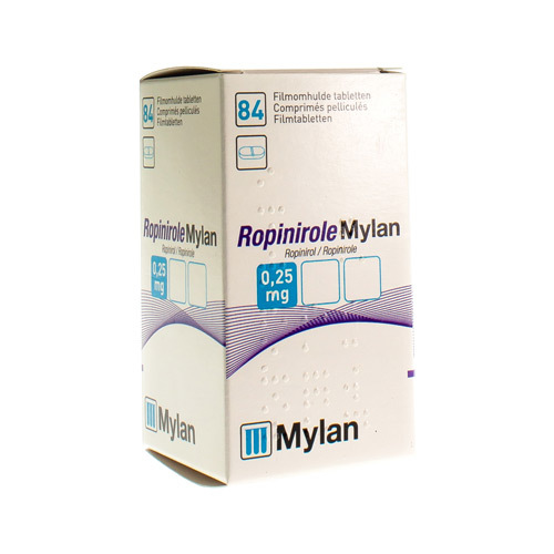 Ropinirole Mylan 0,25 Mg (84 Comprimes)