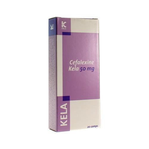 Cefalexine Kela Veterinaire 50 Mg  20 Comprimes
