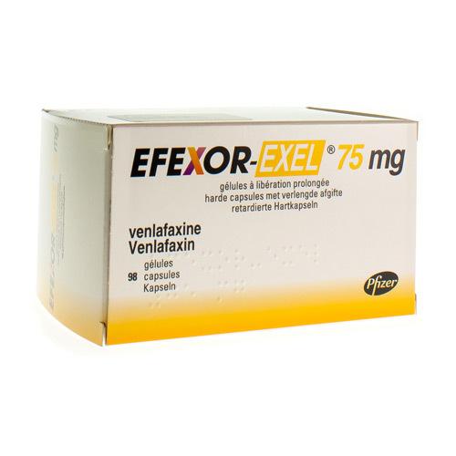 Efexor-Exel 75 Mg (98 Gelules)