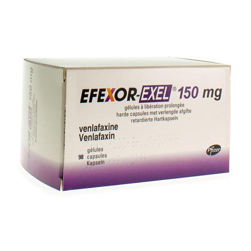 Efexor-Exel 150 Mg (98 Gelules)