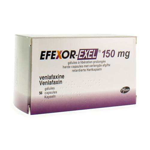 Efexor-Exel 150 Mg (56 Gelules)