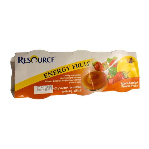 Resource Energy Fruit Pomme - Fraise (3 X 125 Grammes)
