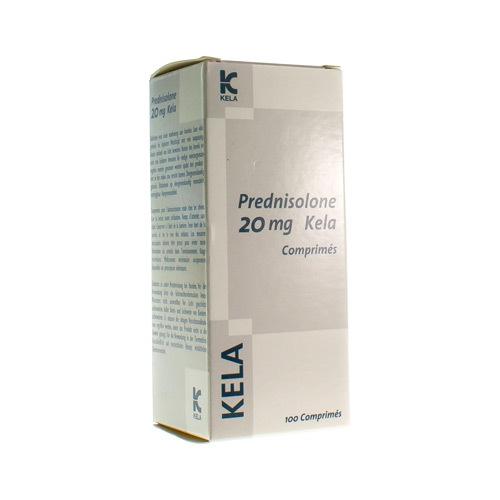 Prednisolone 20 Mg Vet. Kela 100Tabs