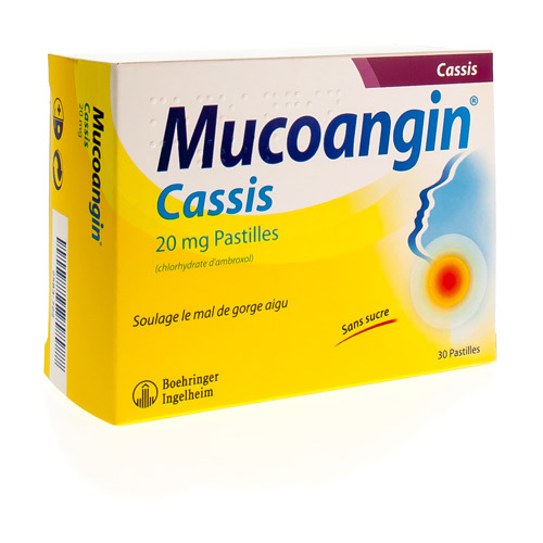 Mucoangin Cassis (30 Comprimes a Sucer)