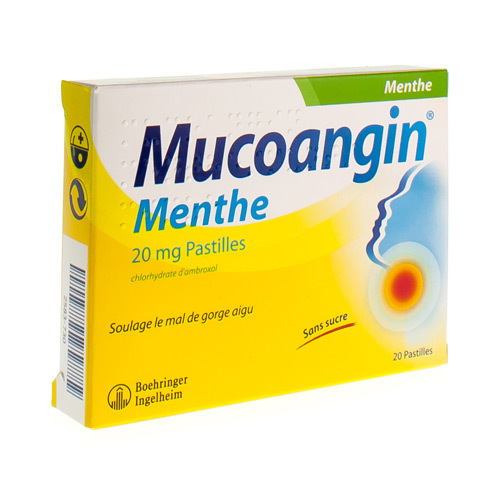 Mucoangin Menthe 20 Mg (20 Pastilles)