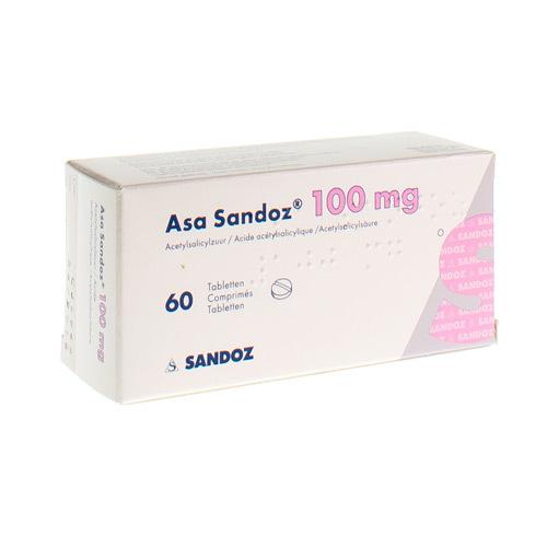 Asa Sandoz 100 Mg  60 Comprimes