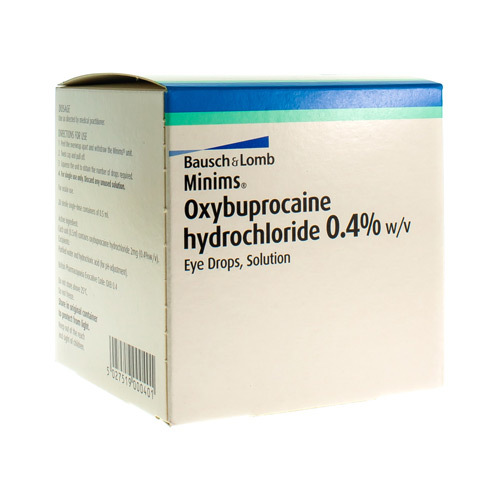 Minims Oxybuprocaine HCl Oogdruppels 0,4% (20 x 0,5 ml)