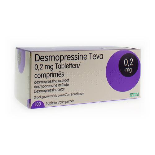 Desmopressine Teva 0,2 Mg  100 Comprimes