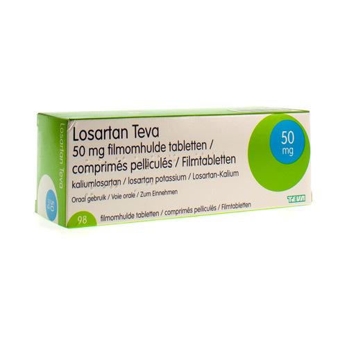 Losartan Teva 50 Mg (98 Comprimes)
