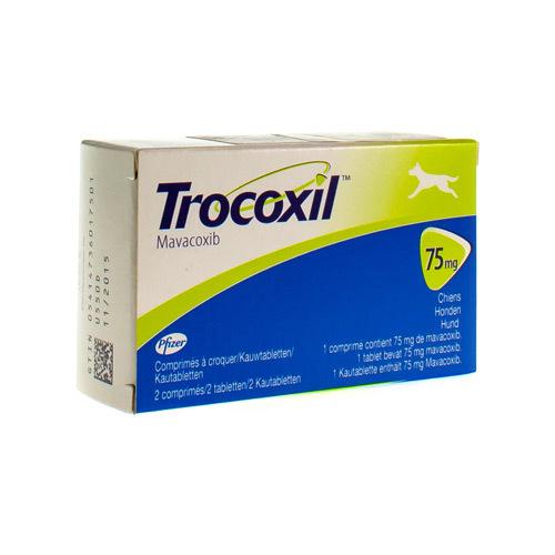 Trocoxil Veterinaire 75 Mg (2 Comprimes a Croquer)