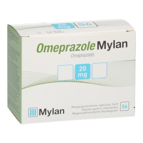 Omeprazole Mylan 20mg Pi Pharma Caps56Blister Pip