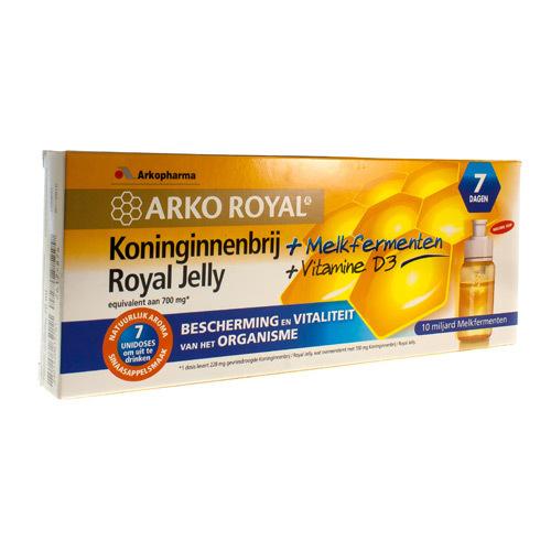 Arkoroyal Probiot. Volwassen Ruche Royale Dosis  7 X 7,5 Ml