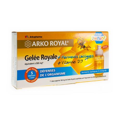 Arkoroyal Probiot. Enfant Ruche Royale Doses  5 X 7,5 Ml