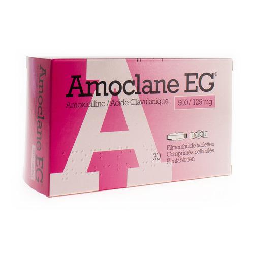 Amoclane EG 500 Mg / 125 Mg  30 Comprimes