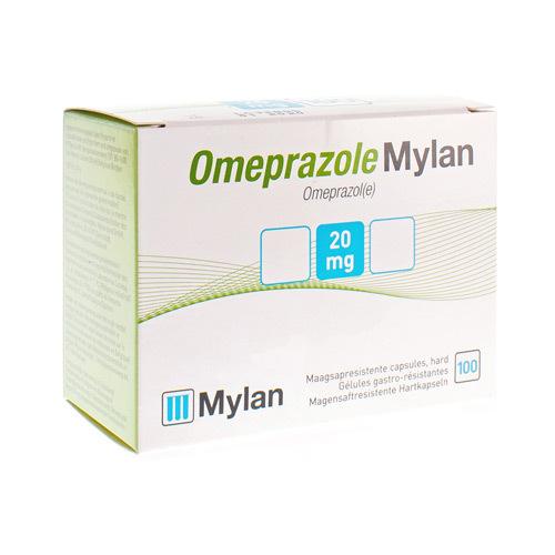 Omeprazole Mylan 20mg Pi Pharma Caps100Blister Pip