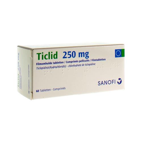 Ticlid 250 Mg (60 Comprimes)