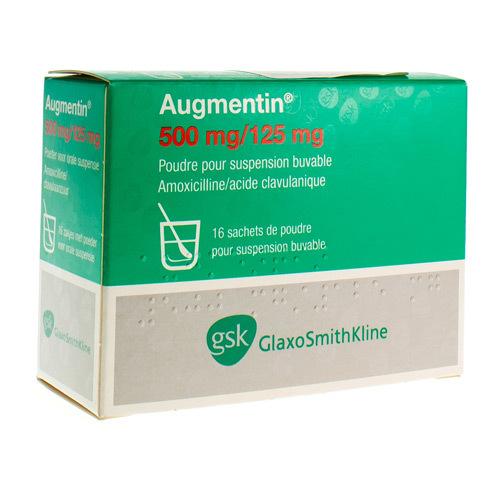 Augmentin 500 Mg / 125 Mg  16 Zakjes
