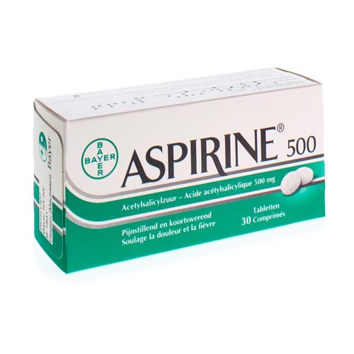 Aspirine 500 Mg (30 Tabletten)