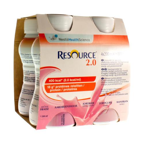 Resource 2.0 Aardbei (4 X 200 Ml)
