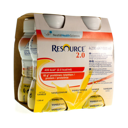 Resource 2.0 Vanille (4 X 200 Ml)