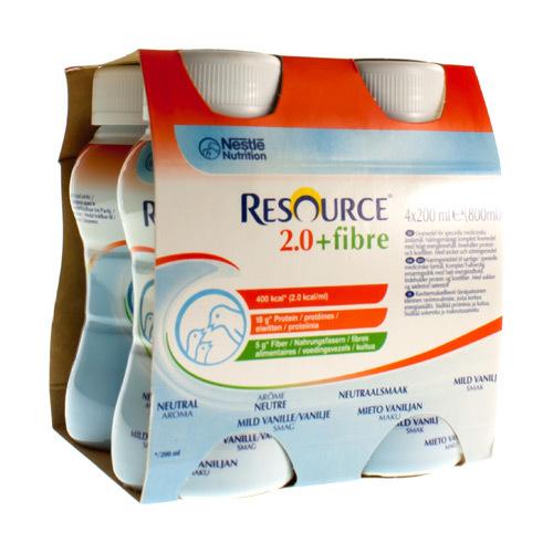 Resource 2.0 + Fibre Neutraal (4 X 200 Ml)
