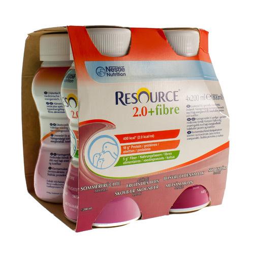 Resource 2.0 + Fibre Fruit Des Bois (4 X 200 Ml)
