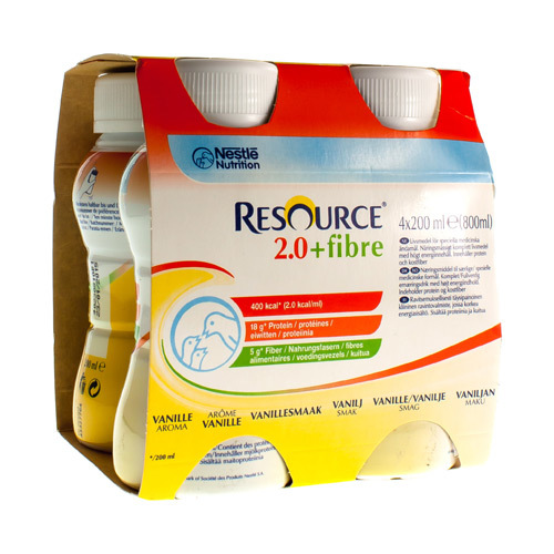 Resource 2.0 + Fibre Vanille (4 X 200 Ml)