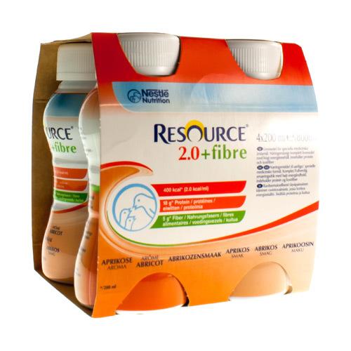 Resource 2.0 + Fibre Abrikoos (4 X 200 Ml)