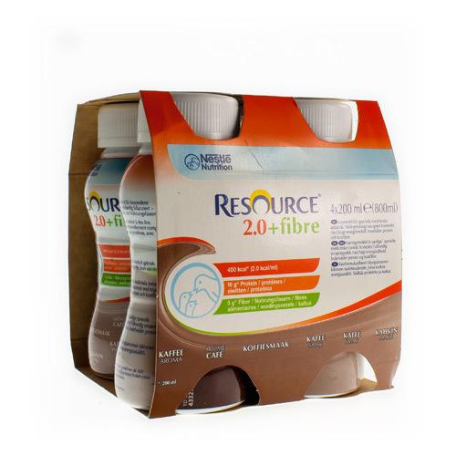 Resource 2.0 + Fibre Koffie (4 X 200 Ml)