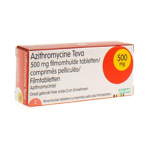 Azithromycine Teva 500 Mg  3 Comprimes