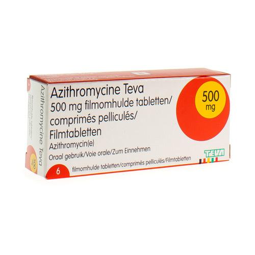 Azithromycine Teva 500 Mg  6 Comprimes