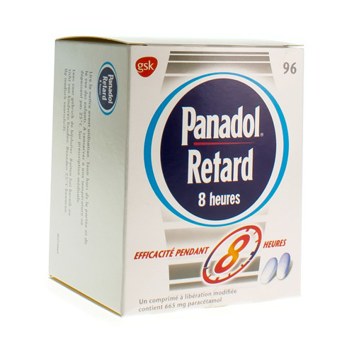 Panadol Retard 8 Heures 665 Mg (96 Comprimes)