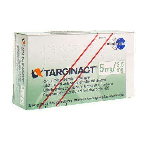 Targinact 5 Mg / 2,5 Mg (30 Comprimes)