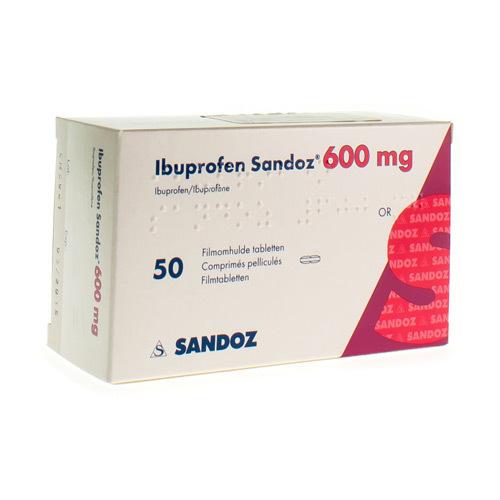 Ibuprofen Sandoz 600 Mg (50 Comprimes)