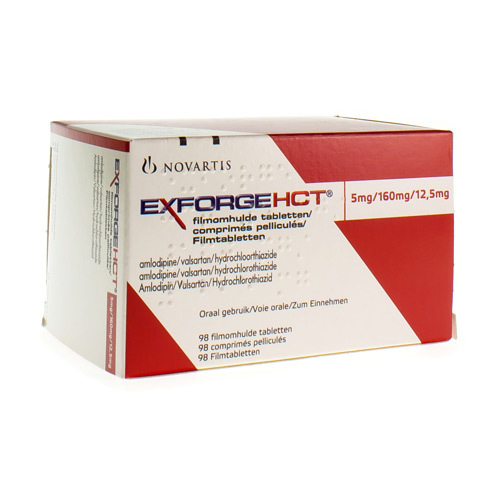 Exforge Hct 5 Mg / 160 Mg / 12,5 Mg (98 Comprimes)
