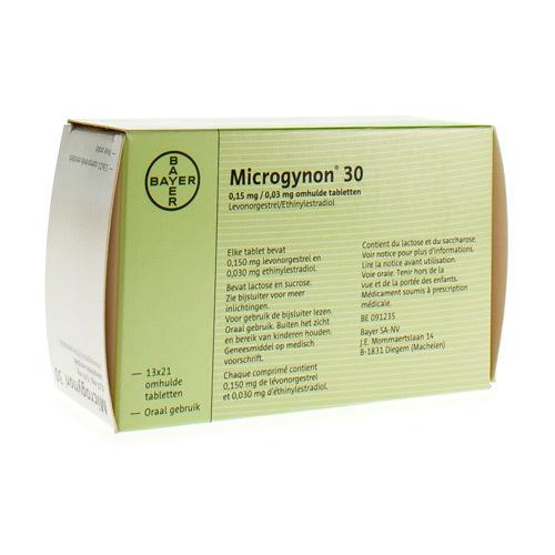 Microgynon 30 0,15 Mg / 0,03 Mg (13 X 21 Comprimes)