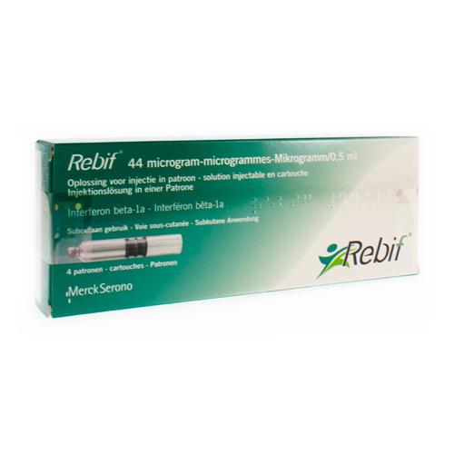 Rebif 44 Mcg/0,5 Ml (4 Cartouches)