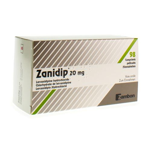 Zanidip 20 Mg (98 Comprimes)