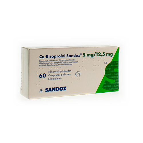 Co-Bisoprolol Sandoz 5 Mg / 12,5 Mg  60 Comprimes