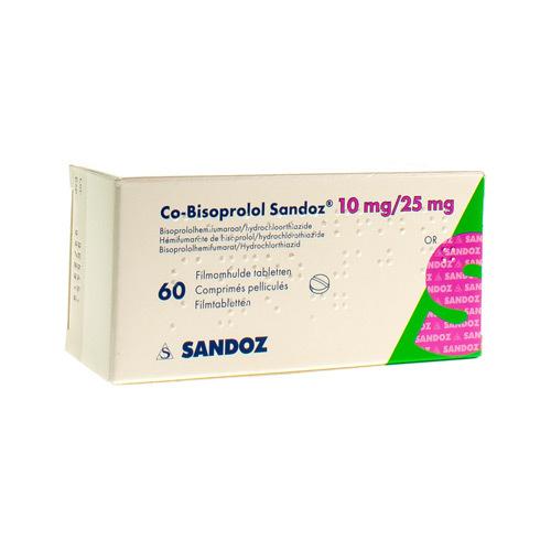 Co-Bisoprolol Sandoz 10 Mg / 25 Mg  60 Comprimes
