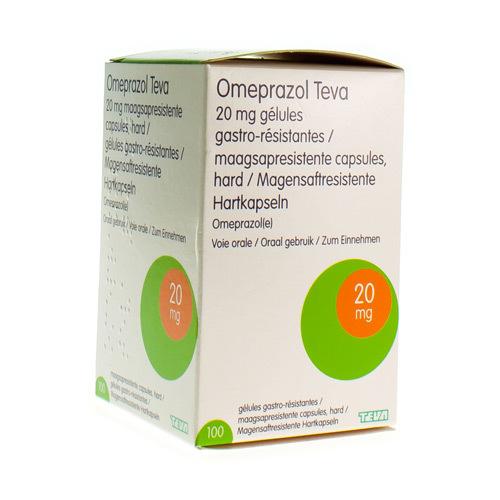 Omeprazole Teva 20 Mg (100 Gelules)