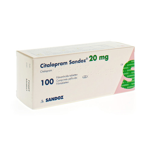 Citalopram Sandoz Pi Pharma 20 Mg  100 Comprimes