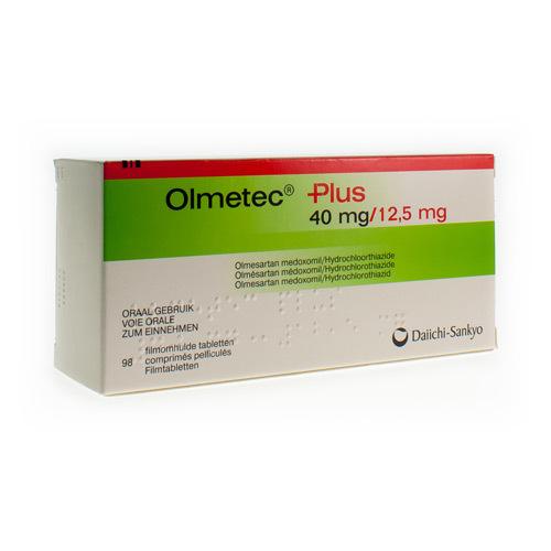 Olmetec Plus 40 Mg / 12,5 Mg (98 Comprimes)
