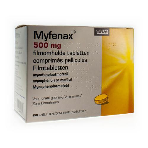 Myfenax Teva 500 Mg (150 Comprimes)