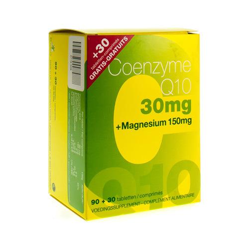 Coenzyme Q10 30 Mg + Magnesium Promo 90 + 30  120 Comprimes
