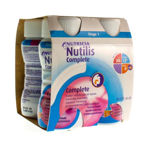 Nutilis Complete Fraise (4 X 125 Ml)