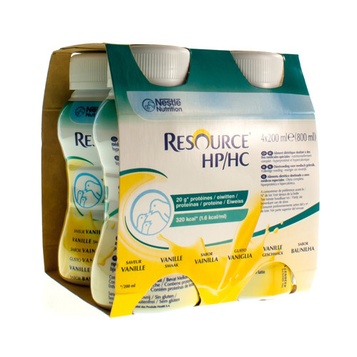 Resource Hp/Hc Vanille (4 X 200 Ml)